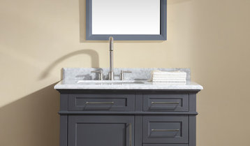 White and Gray Vanities With Free Shipping