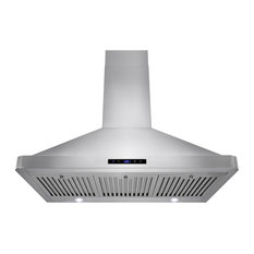 "AKDY 36"" Euro Stainless Steel Wall Mount Range Hood RH0285, Duct/Pipe"
