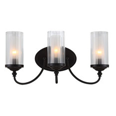 Hardware House Lexington 3 Light Wall Fixture, Oil Rubbed bronze