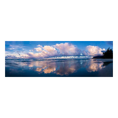 "Cloud Swept Beach-PANO- Canvas Giclee, 15"" X 5"""