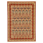 Unique Loom - Unique Loom Carnation Edinburgh Area Rug, Rust Red, 7'x10' - The classic look of the Edinburgh Collection is sure to lend a dignified atmosphere to your home. With an array of colors and patterns to choose from, there�s a rug to suit almost any taste in this collection. This Edinburgh rug will tie your home�s decor together with class and amazing style.