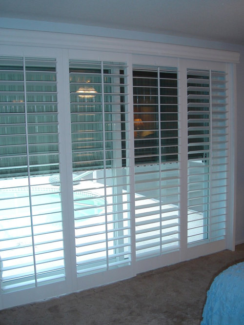 Delightful Plantation Shutters For Sliding Glass Door   Shutter Sliders   Interior  Shutters