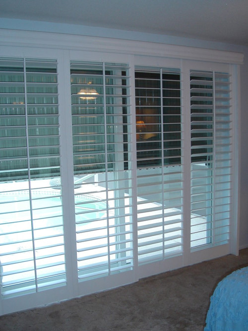 Plantation shutters for sliding glass door shutter sliders for Bifold interior window shutters