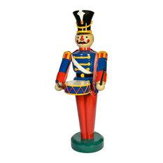 Heavy Duty Fiberglass Christmas Figure With Drum