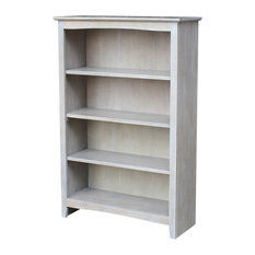 "48"" Shaker Bookcase, Weathered Gray"