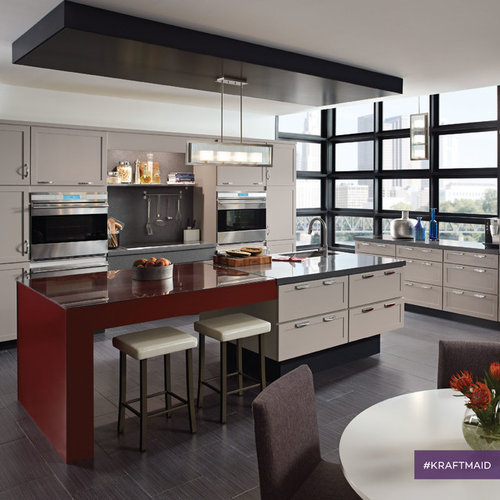 Contemporary Kitchen Vs Modern Kitchen: KraftMaid: Contemporary Kitchens