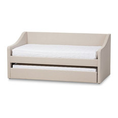 Baxton Studio Barnstorm Upholstered Daybed With Trundle In Beige