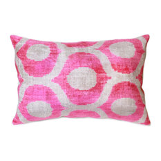 "Pasargad Silk Velvet Ikat Pillows- 16"" x 24"""