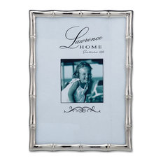 Silver Metal Bamboo 5x7 Picture Frame