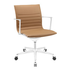 America Luxury Modern Contemporary fice Chair Brown Faux Leather fice Chairs