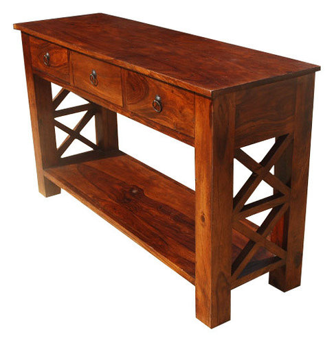 front hallway table. Rustic Solid Wood Entry Hallway Console Table With Drawers Front L