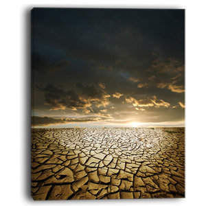Drought Land Under Dramatic Sky Modern Landscape Wall Art Canvas Contemporary Prints And Posters By Design Art Usa Houzz