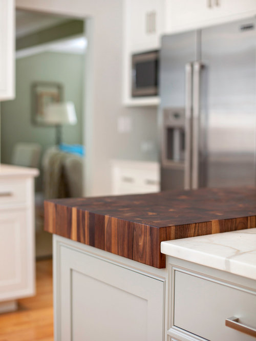 walnut butcher block used for food preparation in new hampshire kitchen  countertops with used countertops.