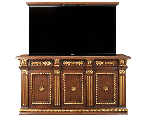 TV lift Cabinet in Home Examples by Cabinet Tronix