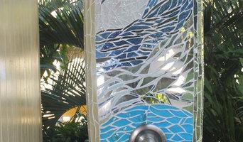 mosaic surfboard shower