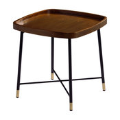 Marbela Midcentury Modern Square End Table