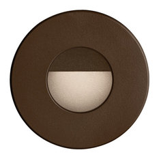 Bran Round Outdoor LED Wall Light, Bronze