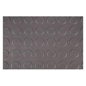 Rubber Flooring Inc Coin Flex Nitro Interlocking Garage Tiles, Dark Gray