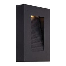 "Modern Forms Urban LED Wall Light, Black, 10"""