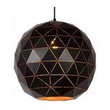 Black pendant lamp Otona made of metal