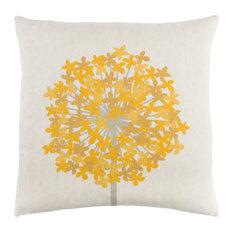 Agapanthus Pillow 18x18x4, Down Fill