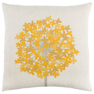 E by design Dots and Dashes Geometric Print Pillow 26 x 26 Green PG820GR13-26