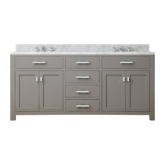 "Madison 72"" Cashmere Grey Double Sink Bathroom Vanity Only"