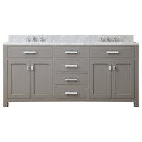 "Madison 72"" Cashmere Grey Double Sink Bathroom Vanity"