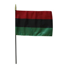 """African American, 8""""x12"""" Stick Flag"""