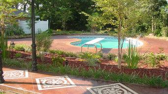 Stenciled Concrete - Pool deck