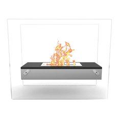 Regal Flame Vista Tabletop Portable Bio Ethanol Fireplace - Black