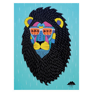 """Leroy the Lion""Printed Canvas by Mulga, 40x30 cm"