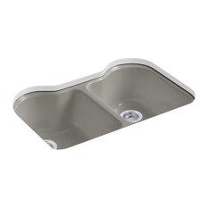 Kohler Hartland Double-Equal Kitchen Sink With 5 Holes, Cashmere