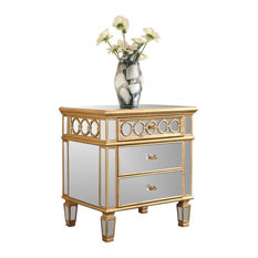 Shop Gold Mirrored Bedside Tables on Houzz