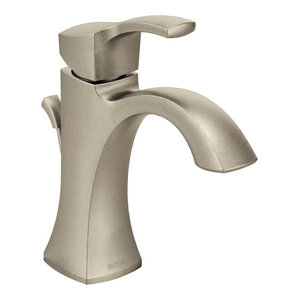 Moen Voss 1-Handle High Arc Bathroom Faucet, Brushed Nickel