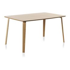 Oviedo Wooden Oak Dining Table, Natural