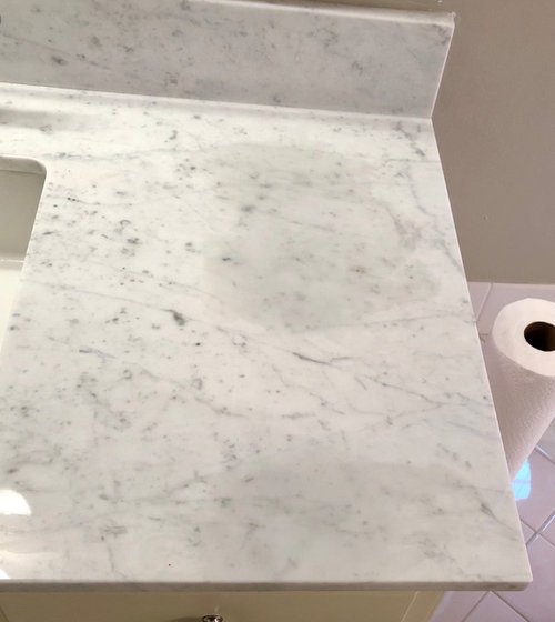 Help Stain Removal On White Granite