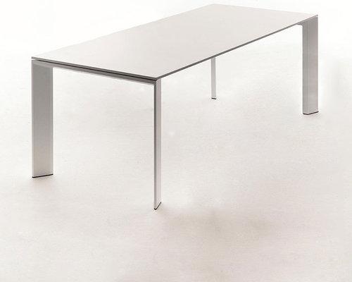 Grand Arche Matbord 74x220x100cm, Vit - Udendørs spiseborde
