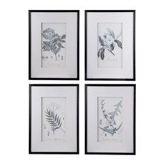 "4-Piece Botanical Fake Pencil Wall Art 20""x28"""