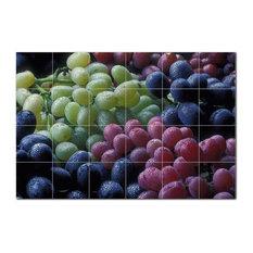 Fruits Vegetables Ceramic Tile Mural Kitchen Backsplash Bathroom Shower, 405210