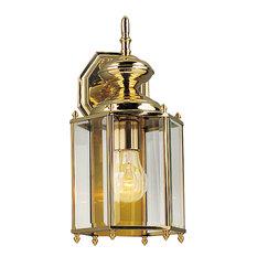 Polished Brass Outdoor Wall Lantern Outdoor LightsHouzz