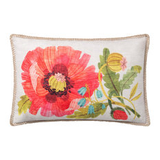 "In/out P0738 Floral Print 13""x21"" Decorative Throw Pillow by Loloi, No Fill"