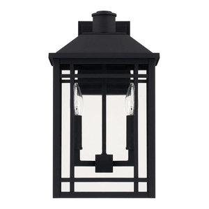Braden 2-Light Outdoor Wall Lantern, Black