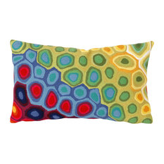 "Pop Swirl Red Pillow - 12""X20"""