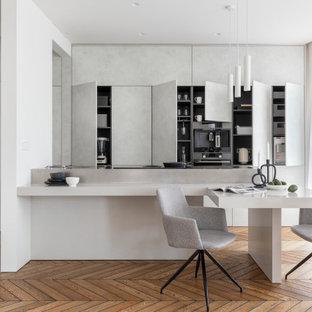 Пример оригинального дизайна: кухня в стиле модернизм