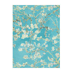 Non-Woven Floral Wallpaper For Accent Wall 17140 Van Gogh Wallpaper, Roll