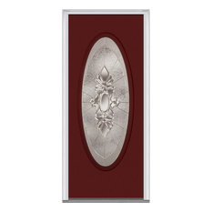 "Heirloom Master Large Oval Steel, Burgundy, 31.5""x81.75"", Right"