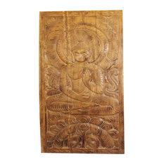 Consigned Buddhism Buddha Wall Panel Vintage Hand Carved Wall Hanging Wall Art