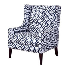 Barton Wing Chair, Navy