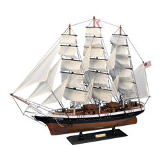 Flying Cloud 30'', Wooden Model Tall Ship, Decorative Model Ship, Handcrafted